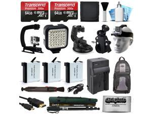 128GB Extreme Accessory Bundle Kit for GoPro HERO4 Hero4 Black Silver Edition