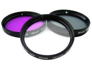 77mm Hi-Resolution 3pcs Lens Filter Kit - Black