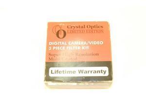 Sakar 62mm 3-Piece Polarizing Filter Kit/UV/F-DL Metal Rim with Leather Case, 15 Year Warranty