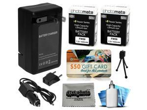 2 Pcs NP-FW50 Battery + Charger for Sony Alpha A3000 A3500 A5000 A5100 A6000 DSLR SLR Digital Camera