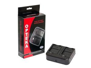 Opteka DBC-LPE6 AC/DC Dual Battery Rapid Charger for Canon LP-E6 Lithium Ion Battery, Works with Canon EOS 5D Mark 2 3 II III 5DM2 5DM3 6D 7D 60D 60Da 70D DSLR Digital Camera