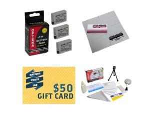 3 Extended Life Replacement Battery Packs For LP-E8 LPE8 For Canon EOS Rebel T2i T3i T4i T5i DSLR Digital Camera, + Deluxe Cleaning Kit + Mini Tripod + 47stphoto Microfiber Cloth + $50 Photo Gift Card