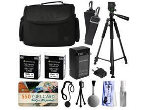 Professional Full Size 60 Inch Tripod + Large Padded Case + EN-EL14 Battery (2 Pack) + Charger + $50 Gift Card for Prints for Nikon D5500 D5300 D5200 D5100 D3300 D3200 D3100 DSLR SLR Digital Camera
