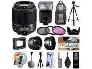 Must Have Accessories for Nikon DF D7200 D7100 D7000 D5500 D5300 D5200 D5100 D5000 D3300 D3200 D300S includes Nikon 55-200mm Lens 2156 + Flash + Backpack + Filters + Adapters + Tripod + More