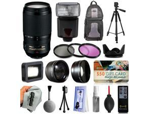 Must Have Accessories for Nikon DF D7200 D7100 D7000 D5500 D5300 D5200 D5100 D5000 D3300 D3200 D300S includes Nikon VR 70-300mm Lens + Flash + Backpack + Filters + Adapters + Tripod + More
