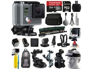 GoPro HD HERO Waterproof Action Camera Camcorder (CHDHA-301) with 32GB MicroSD + Large Case + Selfie Stick Monopod + Stabilizer Holder + Chest Strap + Car Charger + Floating Bobber + Backpack
