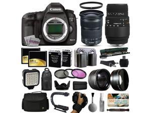 Canon EOS 5D Mark 3 DSLR Digital Camera + 24-105mm STM + Sigma 70-300mm Lens + 128GB Memory + 2 Batteries + Charger + LED Video Light + Backpack + Case + Filters + Auxiliary Lenses + More