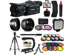 Canon XA35 HD Professional Video Camcorder + Mega Accessory Kit with Macro and Telephoto Lenses + Filters + LED + More