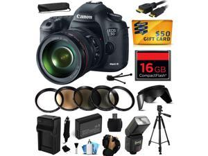 Canon EOS 5D Mark III 22.3 MP Full Frame CMOS Digital SLR Camera with EF 24-105mm f/4 L IS USM Lens includes 16GB Memory + Flash + Battery + Charger + UV-CPL-FL-ND4-10x Macro + $50 Gift Card 5260B009