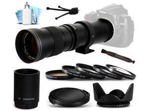 420mm 1600mm f8.3 Super Telephoto Lens Package for Nikon D600 D800 D3200 D5200