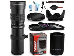 420mm-1600mm f8.3 Telephoto Lens Bundle for Canon EOS 1200D 700D 650D 600D 100D