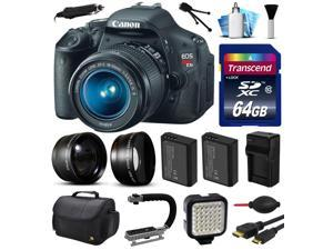 Canon EOS Rebel T3i 600D Digital Camera w/ 18-55mm Lens (64GB Essential Bundle)