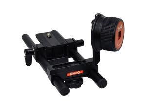 Opteka FF-240 Compact DSLR Gearless Follow Focus Rig with 15mm Rails