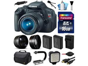 Canon EOS Rebel T3i 600D Digital Camera w/ 18-55mm Lens (16GB Essential Bundle)