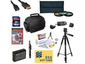 Accessory Kit for Canon Rebel T3 Includes 16GB SDHC Card + Card Reader + Battery + Travel Charger + 3 Filter Kit + HDMI Cable + Gadget Bag + Tripod + Lens Pen + Cleaning Kit + DVD + $50 Gift Card