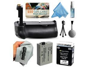 Multi Power Battery Grip + Ultra High Capacity LP-E8 LPE8 Battery (2400mAh) for Canon EOS Rebel T2i T3i T4i T5i 550D 600D 650D 700D Kiss X4 X5 X6i X7i DSLR SLR Digital Camera (BG-E8 BGE8 Replacement)