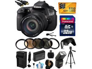 Canon EOS 60D 18 MP CMOS Digital SLR Camera with EF-S 18-200mm f/3.5-5.6 IS Lens with 32GB Memory + Flash + Battery + Charger + UV-CPL-FL-ND4-10x Macro Filters + Grip Strap + $50 Gift Card 4460B016