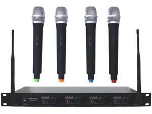 Hisonic HSU8500H UHF 4 Channel Professional Wireless Microphone System