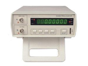 VC2000 Bench Frequency Counter with AC Power Cable, BNC Test Leads