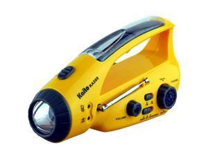 Kaito KA288 Emergency Crank & Solar Flashlight with Radio