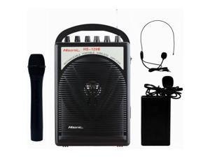 Hisonic HS120B Portable PA System with Wireless Microphones, Black