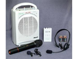 Hisonic HS120B Portable PA System with Wireless Microphones, White