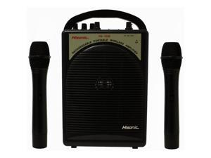 Hisonic HS122B-H2 Rechargeable Portable PA System with Dual Microphones Black