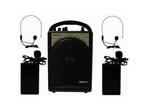 Hisonic HS122B-L2 Rechargeable Portable PA System with Dual Microphones Black