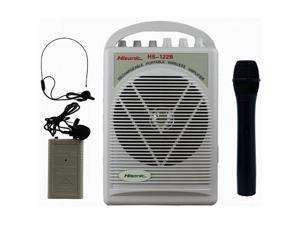 Hisonic HS122B-HL Rechargeable Portable PA System with Dual Microphones White