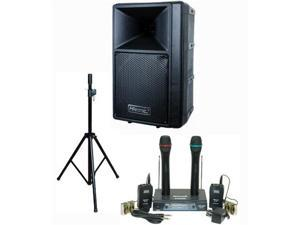 Hisonic PA-687S 80-Watt PA System with Dual VHF Wireless Microphone System