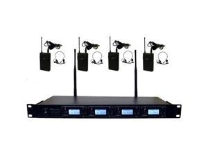 Hisonic HSU8900L 100-Channel Wireless Microphone System with Lapels & Headsets