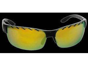 Bangerz Cor Flow Through Sport Sunglasses HS 6800, Black/Gold Revo