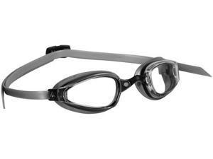 Aqua Sphere K180+ Clear Lens Swim Goggles - Black & Silver