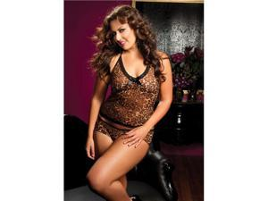 Plus Size Hear Me Roar Mesh Cami And Boyshort (Packaged)