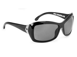 Spy Optic Farrah Sunglasses, '88 Coll Black Frame, Grey Lens, Polarized 67301106