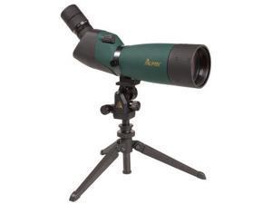 Alpen 20-60x80mm Angled Waterproof Spotting Scope - 45 Degree Eyepiece, Nylon Ca