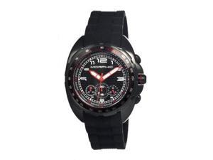 Morphic M25 Series Watch,Black Silicone Band,Red Hand,Black Bezel,Black Analog D