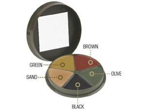 Camcon Camouflage Cream Compact, 5 Color,Blk/Brown/Olive/Green/Sand CC