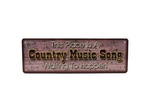 River's Edge Lrg Tin Sign 10.5In.Wx3.5In.H Country Music Song Sign