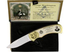 George Washington Masonic Knife with Box M4222