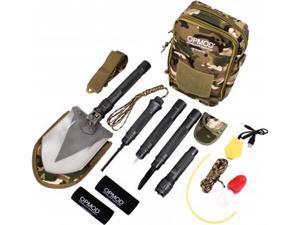 OPMOD Survival Series 20-in-1 Emergency Shovel Flashlight,Charcoal Grey