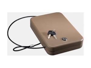 Stack-On Portable Case Gun Safe w/Key Lock,9.5x6.5x1.75in,Sand