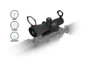 NC Star 4x32mm Rubber Compact Mark 3 Tactical Illuminated Riflescope Green Lens,