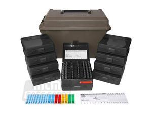 MTM 9mm Ammo Can 1000 Round w/ 10 each P-100-9s, Dark Earth