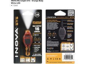 Inova Microlight Swipe To Shine Key Light - Orange/Black