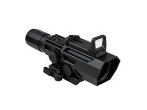 NcSTAR Advance Dual Optic ADO 3X-9X Riflescope w/ Flip Up Red Dot Optic,Black VA