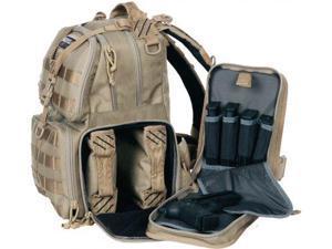 GPS Tactical Tactical Range Backpack, Tan
