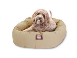 "Majestic Pet Medium 32"" Bagel Dog Bed (32""x28""x10""), Khaki - OEM"