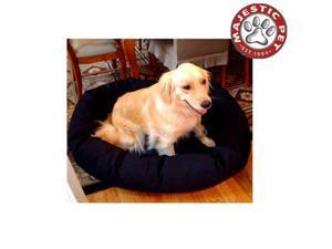 "Majestic Pet Medium 32"" Bagel Dog Bed (32""x28""x10""), Black - OEM"