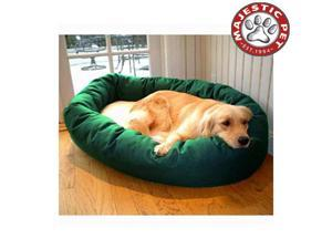 "Majestic Pet Small 24"" Donut Dog Bed (24""x22""x9"") GREEN & SHERPA"